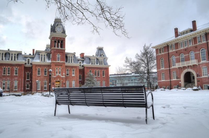 WVU Campus Snow Shot