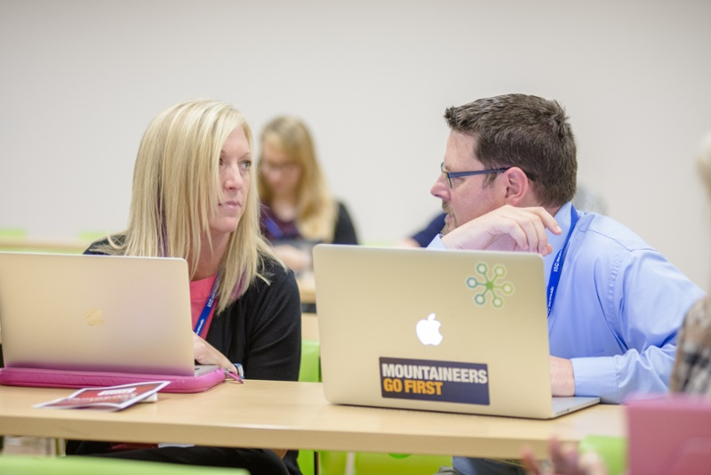 2 WVU RCM students collaborating during classes