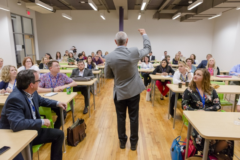 WVU data marketing communications integrate conference classroom with students