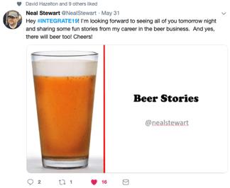Neal Stewart told beer stories