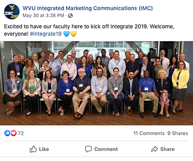 Our faculty participated in kicking off Integrate 2019!